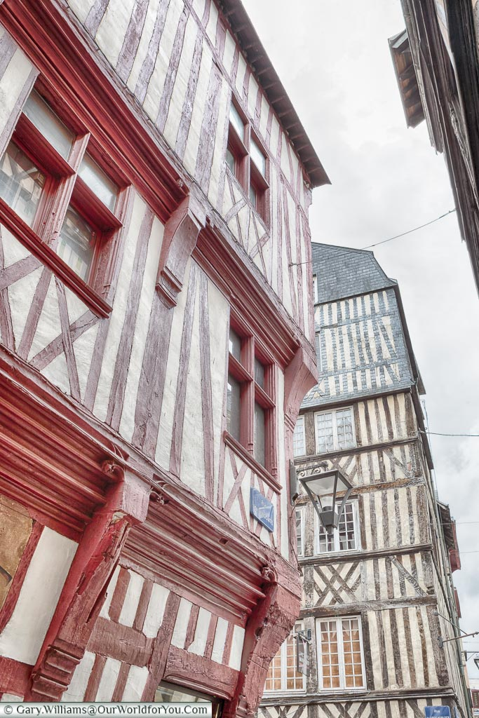 Timbered buildings, Rouen, Normandy, France