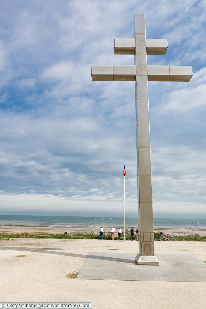 Looking out over Juno Beach, Normandy, France