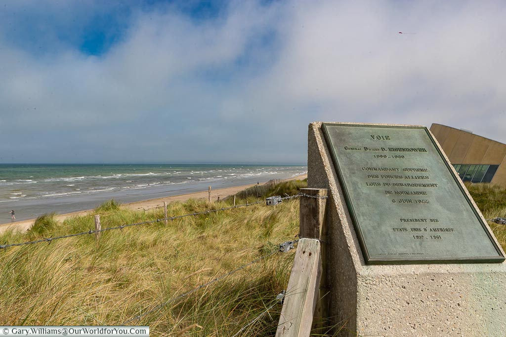 Lookout over Utah Beach, Normandy, France
