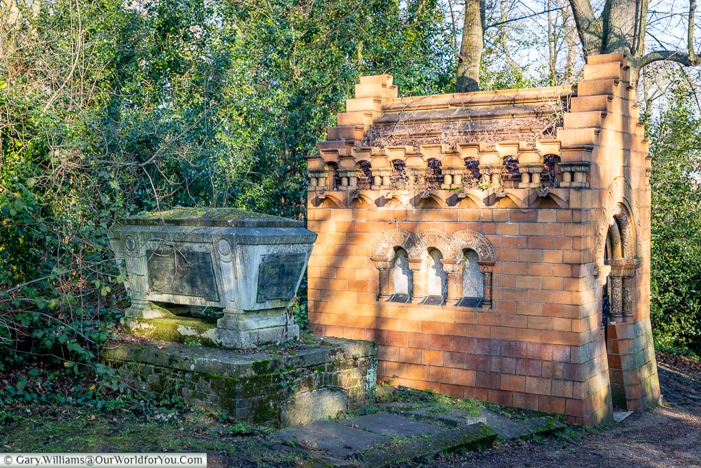 The Stearns mausoleum, Nunhead Cemetery, London, England, UK