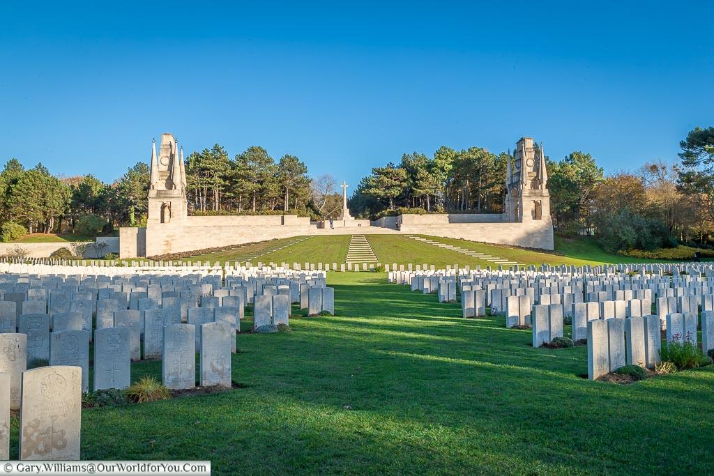 The imressive Étaples Military Cemetery, France