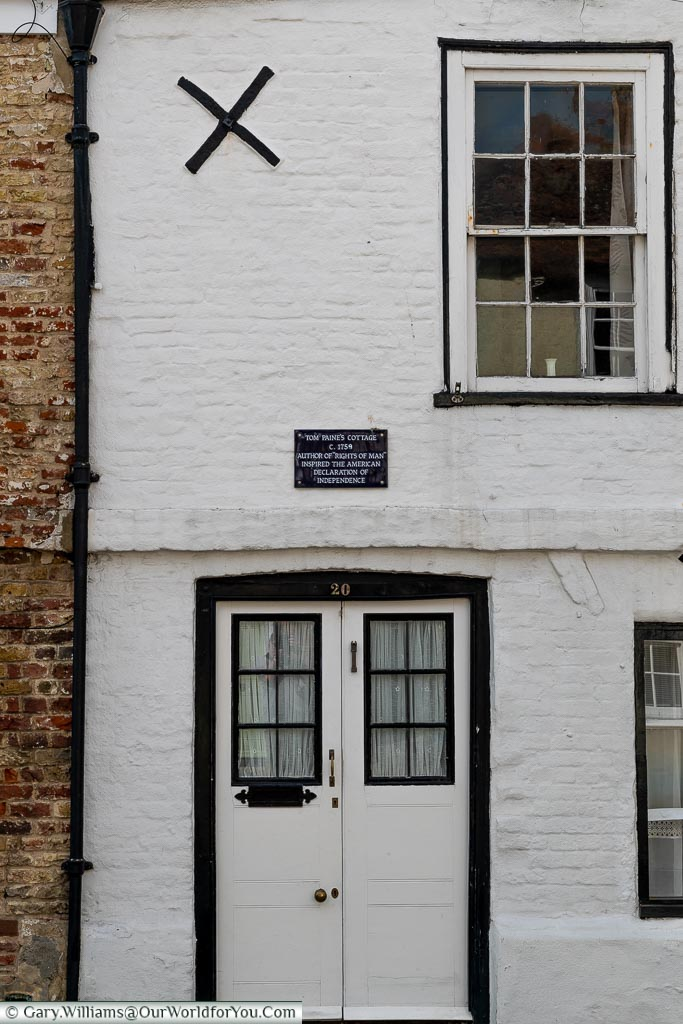 Thomas Paine's cottage, Sandwich, Kent, England, UK