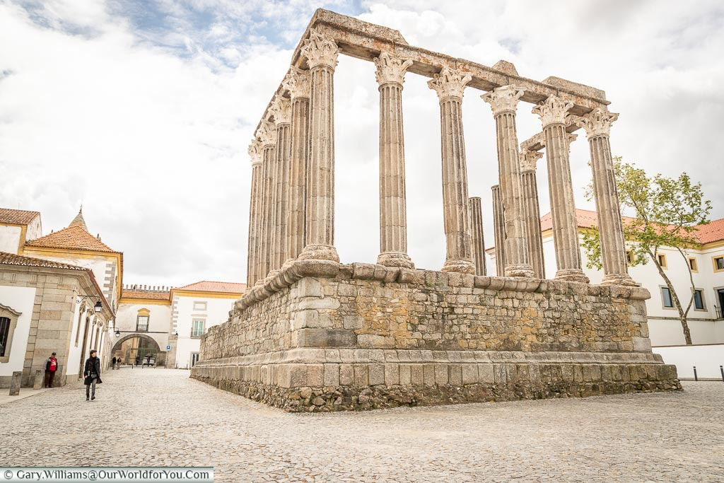The remains of the Roman Temple, Évora, Portugal