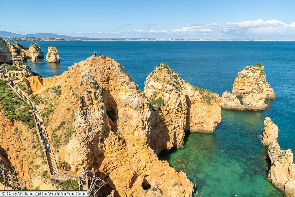 The stairway at Ponta da Piedade, Algarve, Portugal