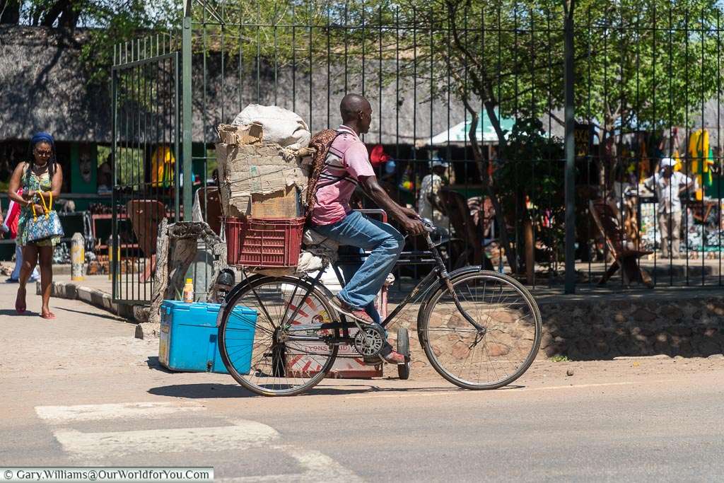 A typical mode of transport, Victoria Falls Town, Zimbabwe