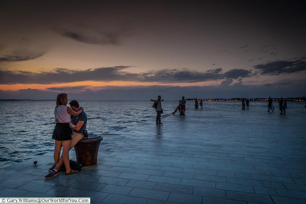 Entranced by the Sea Organ, Zadar, Croatia