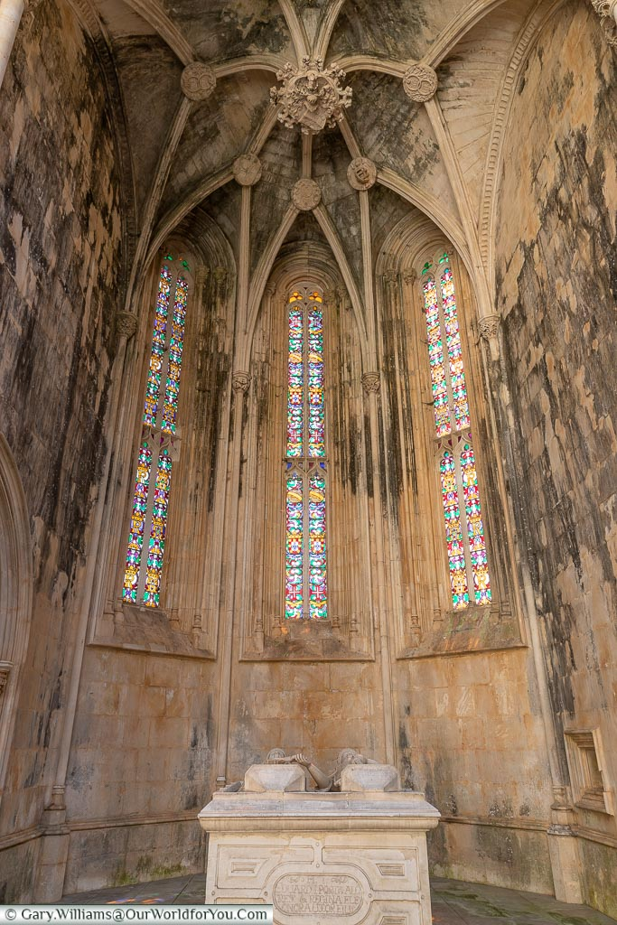 Inside the Monastery of Batalha, UNESCO, Portugal