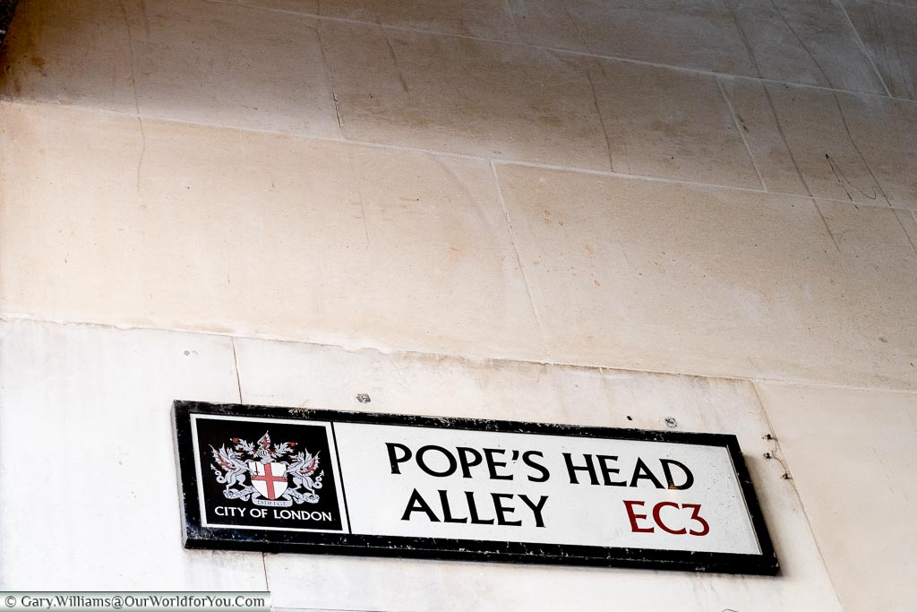 Pope's Head Alley, Streets of London, London, England, UK