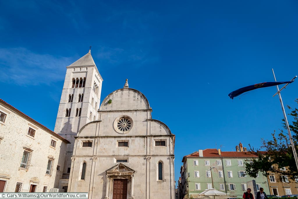 St. Mary's Church under a beautiful blue sky, Zadar, Croatia