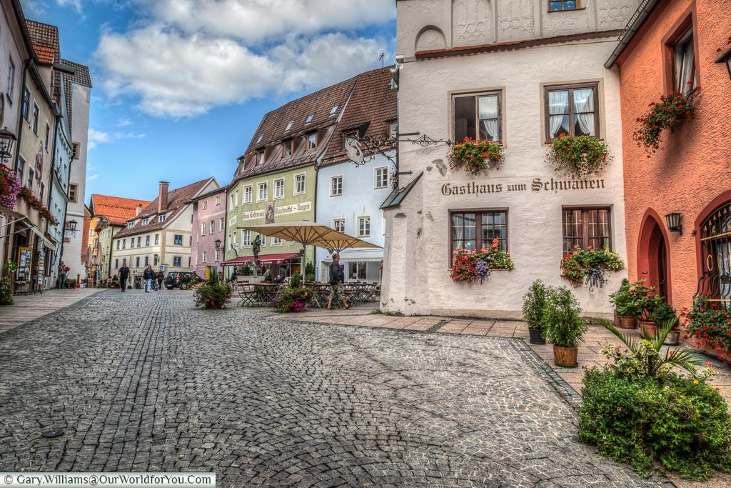 The old town - Brotmarkt, Füssen,Bavaria, Germany