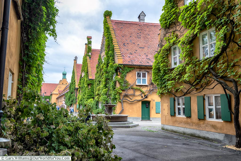 A view along Herrengasse in the Fuggerei