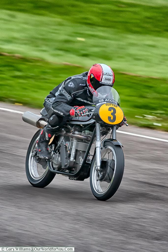 Michael Rutter on a Norton, Goodwood Revival, UK