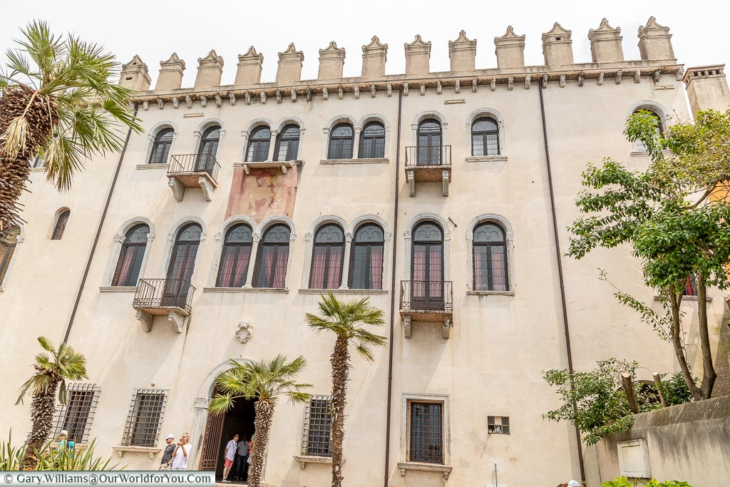 Palazzo dei Capitani from its gardens.  A classic 3 storey palace in a grand design.