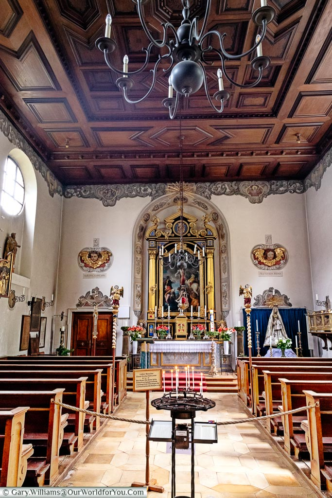 Inside the small chapel of St. Markus in the Fuggerei