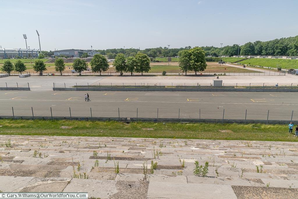 A view across the Nazi Party Zeppelin Field from the main grandstand
