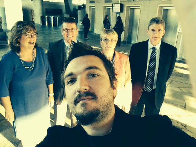 Slovenian delegation at UNESCO HQ In Paris — with Veronika Stabej, Mitja Jermol, Davor Orlic, Marjutka Hafner and Jadran Lenarcic at UNESCO HQ In Paris.