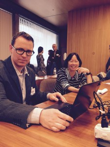 TJ Bliss and Barbara Chow, Hewlett Foundation @ UNESCO OER Experts meeting