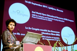 Ms Asha Kanwar, President and CEO, Commonwealth of Learning - 2nd World Open Educational Resources (OER) Congress
