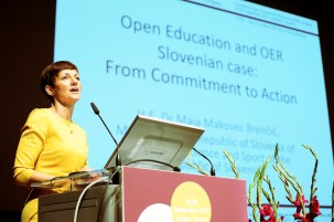 H.E. Dr Maja Makovec Brenčič, Minister of the Republic of Slovenia of Education, Science and Sport of the Republic of Slovenia - 2nd World Open Educational Resources (OER) Congress