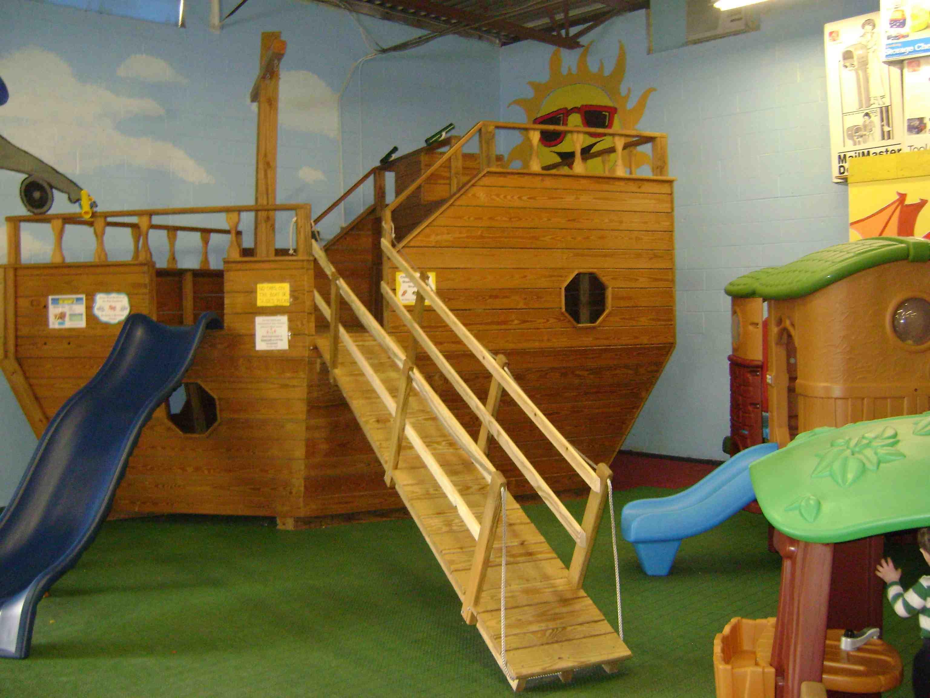 Outdoor fun indoors at timbergyms - Wooden pirate ship outdoor ...