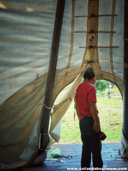 Three Kids, Two Moms, and One Tipi: Our Night in a Tipi at