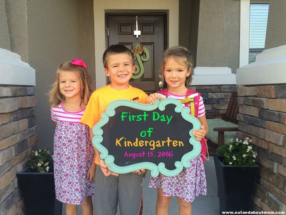 Bruiser, Sparkles & Sweetheart on their first day of school, which started this week.
