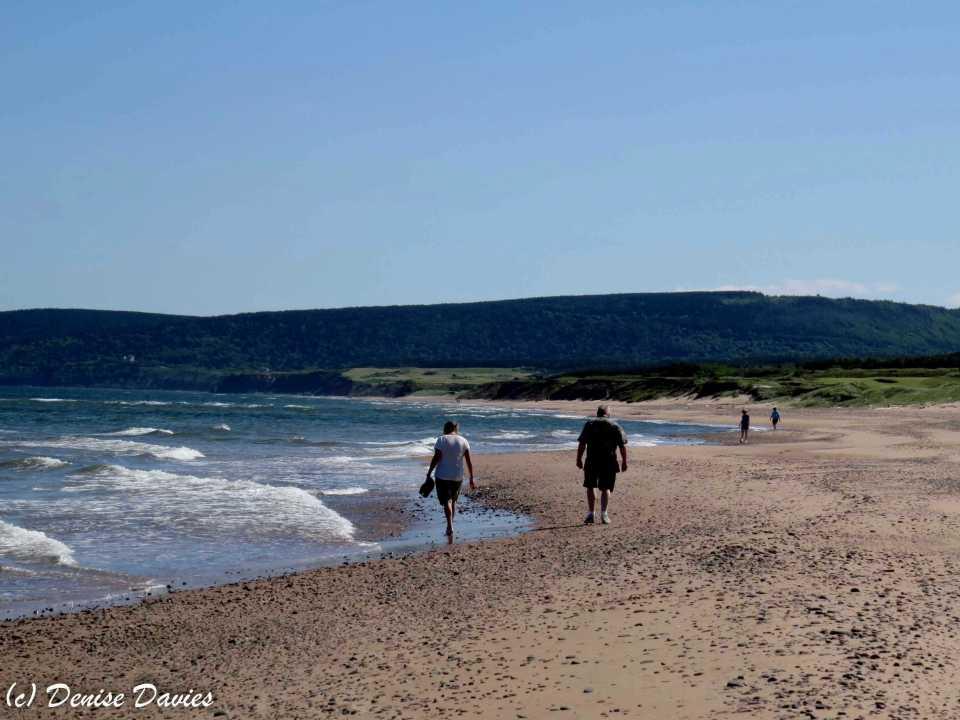 Enjoying a beach walk