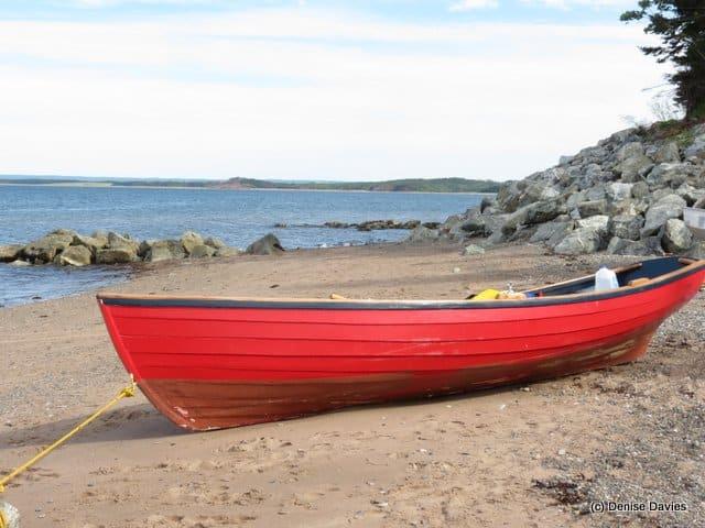 Jimtown Beach Red Dory 9681