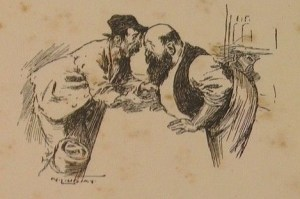 """Sketch of Lawson and Webb from """"When I was King"""" 1905"""
