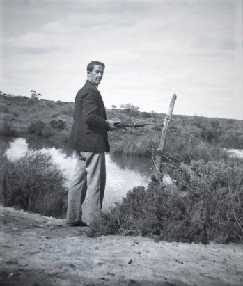 Dad (Milton Spain) on his search for ducks at the Bullock Holes (must have been a good shot using a 303 rifle).