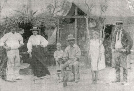 Left to right – Fred Adolph age 25 wife ElizabethSon -Frederick William - Bill Adolph age 22- girl – Otto Adolph age 19