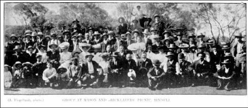 Masons and Brick Layers Picnic Binduli - Western Argus 4 December 1906, page 25