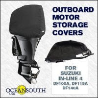 Oceansouth Custom Fit Storage Covers for Suzuki In-Line 4 DF100A, DF115A, DF140A