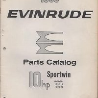 1963 EVINRUDE OUTBOARD MOTOR SPORTWIN 10HP P/N 278444 PARTS MANUAL (570)