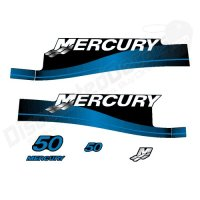 Mercury Outboard 50P Decal Kit Electric Stickers 2 Stroke 50 HP Blue 1999-2006