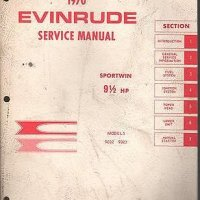 1970 EVINRUDE OUTBOARD MOTOR 9 1/2 HP SERVICE MANUAL USED