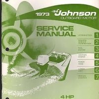 1973 JOHNSON OUTBOARD MOTOR 4 HP SERVICE MANUAL P/N JM-7302 (795)