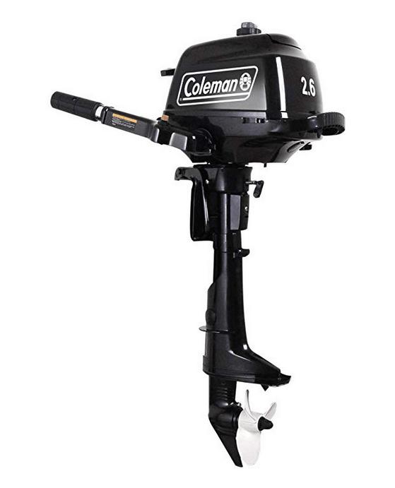 Coleman Manual Start Outboard Motor (Black)