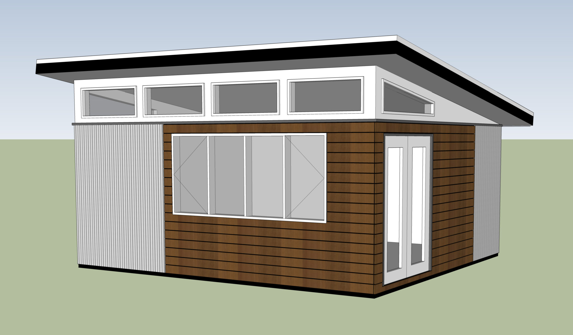 Prefab Laneway Houses 12x24 ModernShed Westcoast Outbuildings