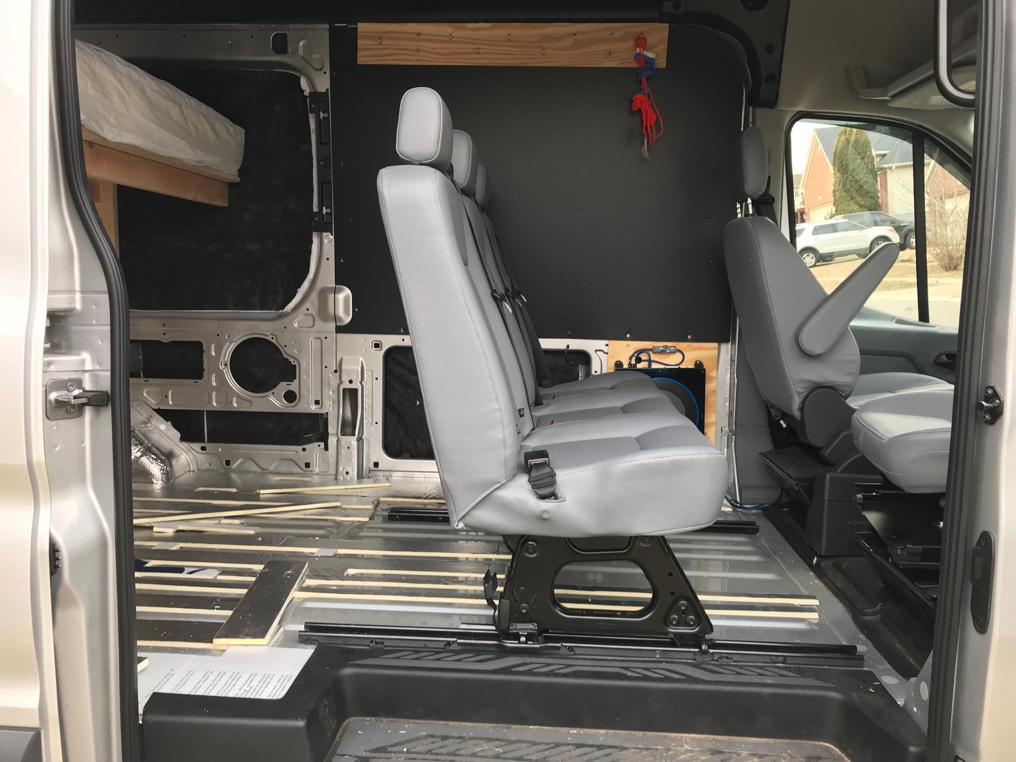 FORD TRANSIT 250 350 SEAT FLOOR OEM TAKE OUT BRACKET