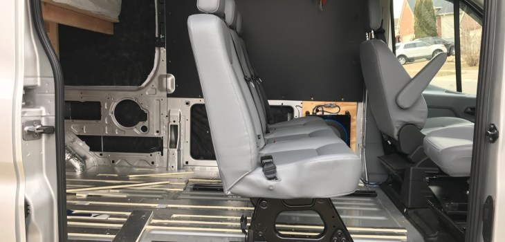 Sensational Van Conversion Installing 2Nd Row Bench Seat In Ford Transit Short Links Chair Design For Home Short Linksinfo
