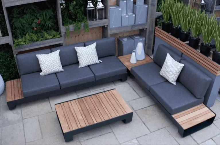 sanya outdoor corner sofa set dark grey