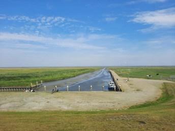 De kleinste zeehaven van Nederland bij eb