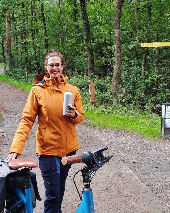 Laura op e-bike