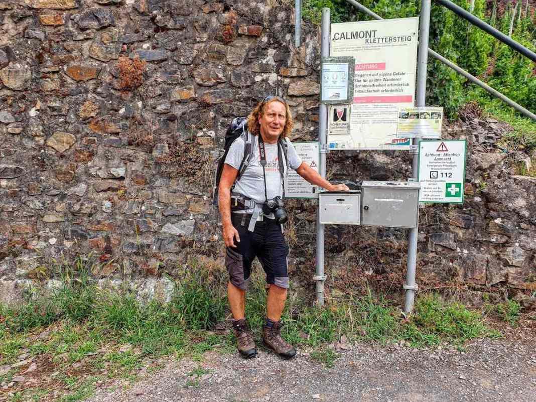 Aan het begin van onze eerste Klettersteig in Duitsland. Foto: Herman van Alfen
