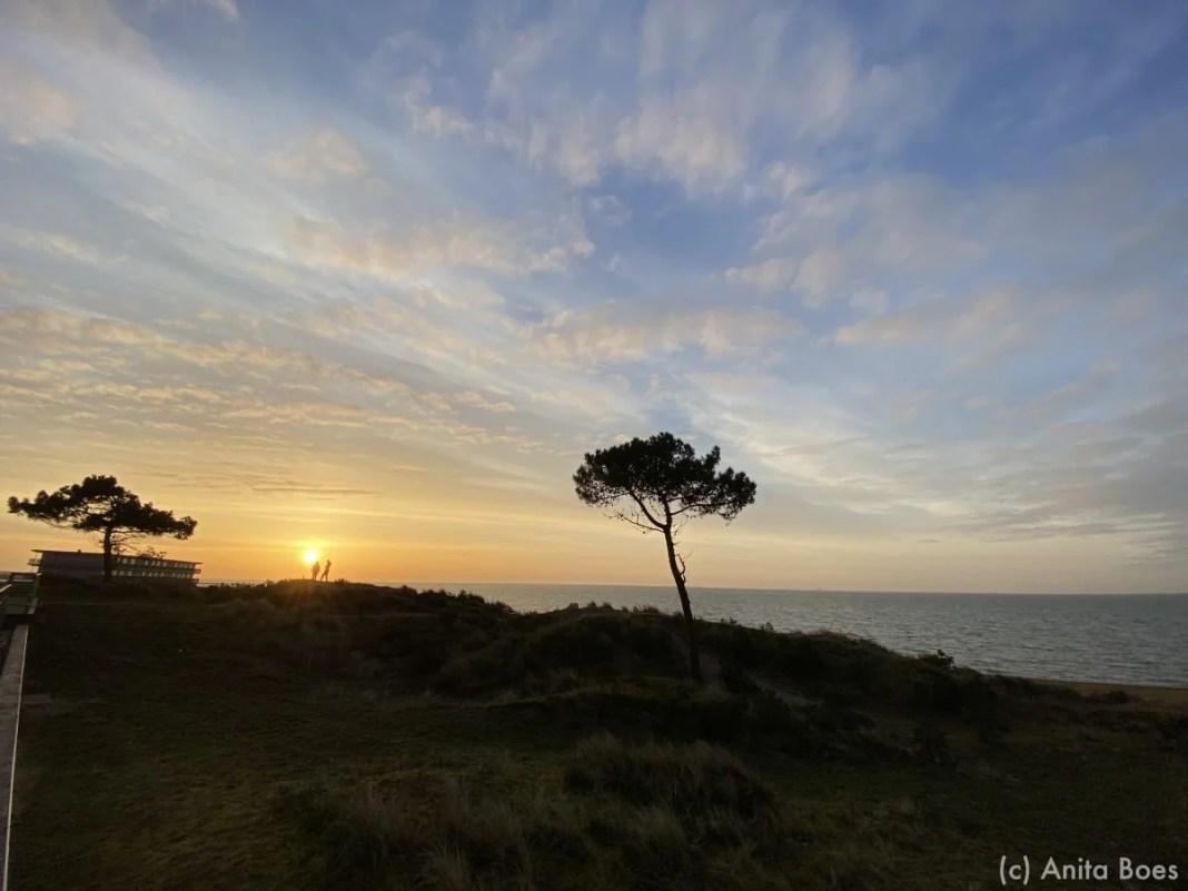 Een prachtige zonsopgang boven de Waddenzee.