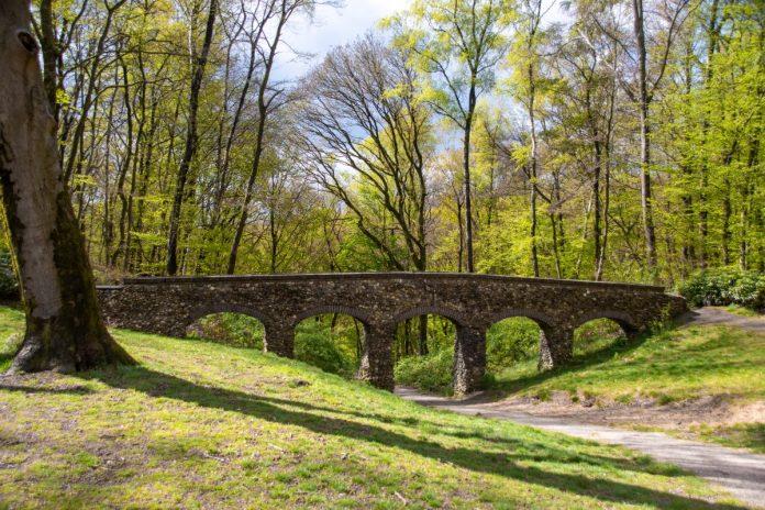 Historische brug over het klompenpad