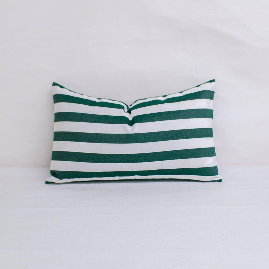 indoor outdoor sunbrella mason forest green 20x12 horizontal stripes throw pillow quick ship