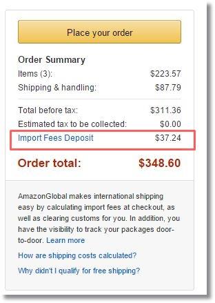 amazon.comアメリカ米国アマゾン購入_importfeedeposit_インポートフィー輸入関税