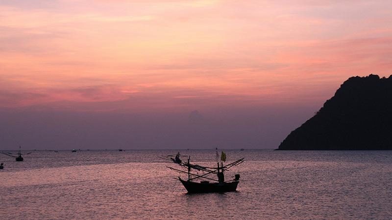Passing An Anchored Fishing Boat